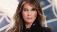 Melania Trump's first official portrait released by the White House