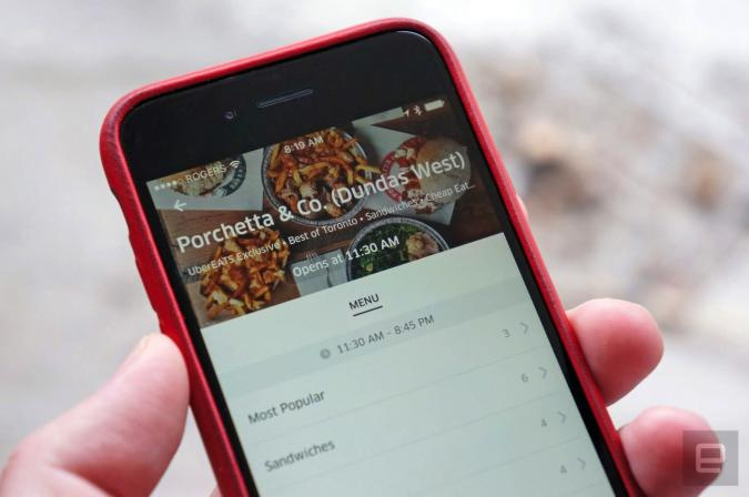 Uber's food delivery service gets a dedicated app in US cities