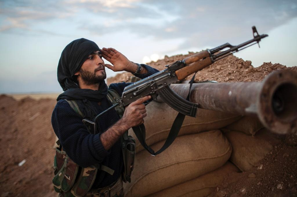 The Kurdish Peoples' Protection Units (YPG) is seen by Washington as the best ally against Islamic State (IS) jihadists in Syria and the prime attacking force in any assault on their stronghold of Raqa (AFP Photo/FABIO BUCCIARELLI)