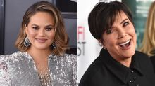 Kris Jenner Falls Into Chrissy Teigen's Table at Super Bowl Party and Breaks It!