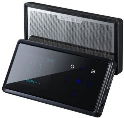 Samsung's YP-K5 audio player with integrated speakers