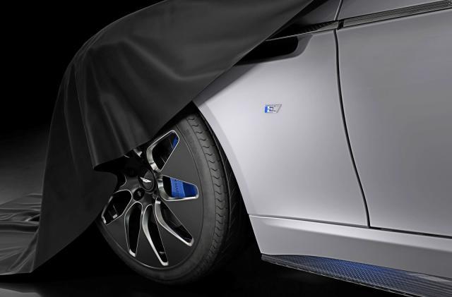 Aston Martin offers peek at all-electric Rapide E sedan