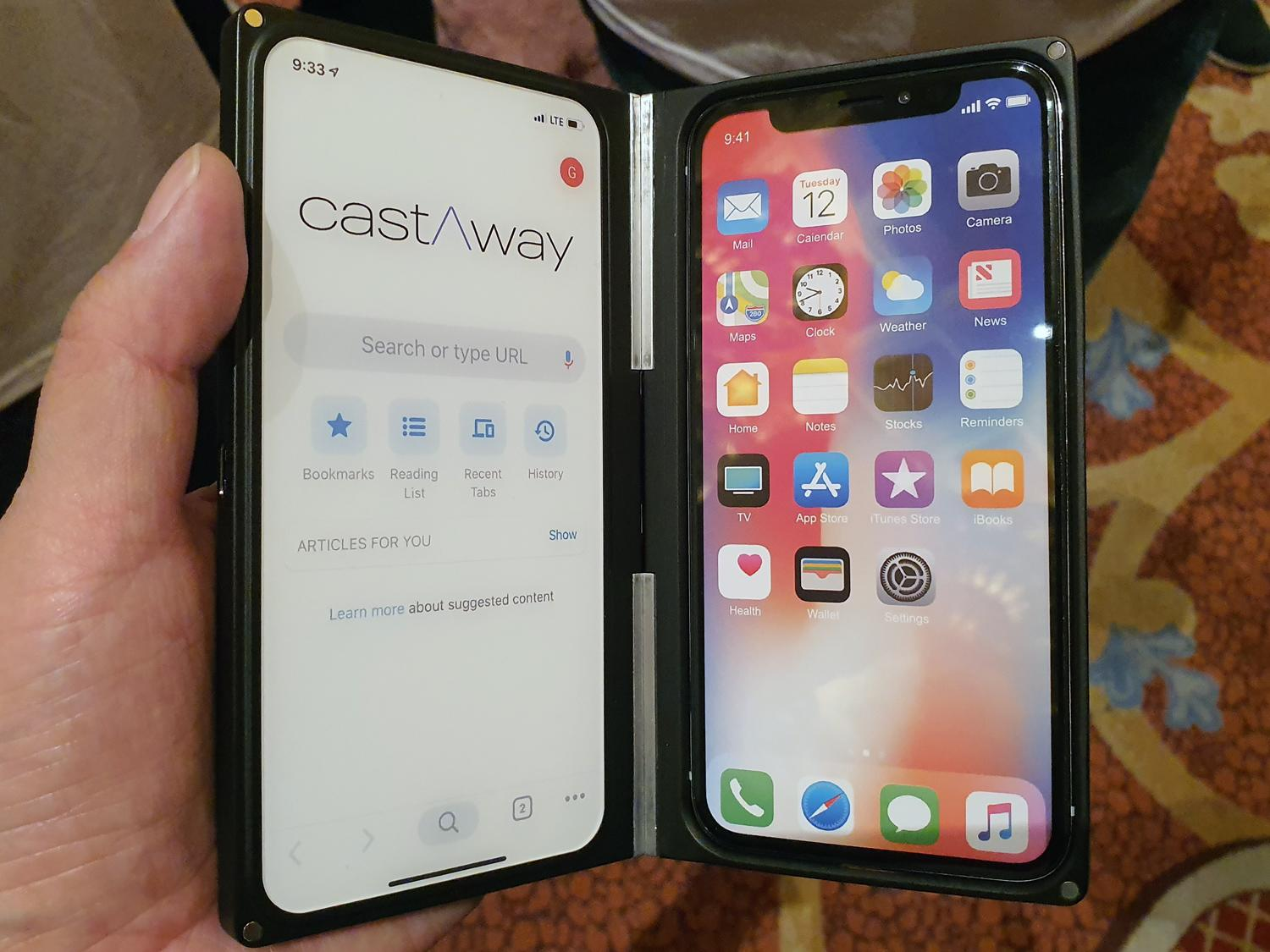 "Photo of I tried a gimmick of ""castAway case"", a case where any smartphone has two screens: CES2020"