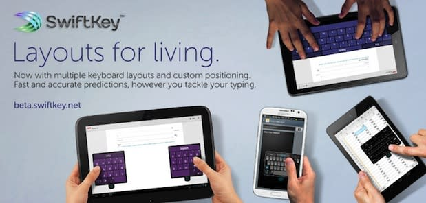 SwiftKey 4.3 update offers keyboard layouts you can resize, move and split