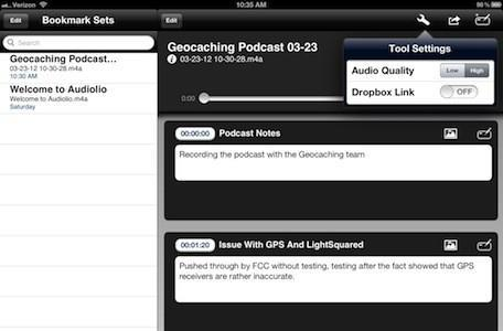 Audiolio: A multitasking note-taking and audio recording app for iPad