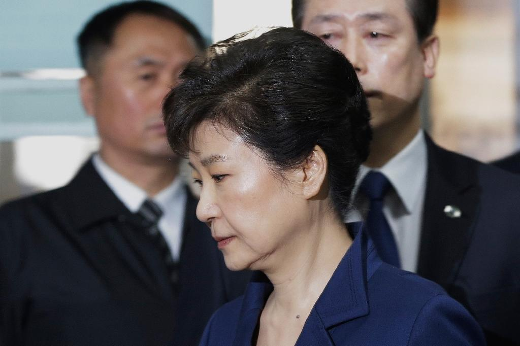 South Korea's ousted President Park Geun-Hye denies all of the 18 criminal counts filed against her (AFP Photo/Ahn Young-joon)