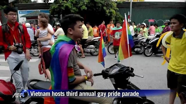 Vietnam hosts third gay pride parade as attitudes soften