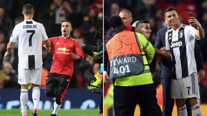 Ronaldo's superb gesture for United pitch invader