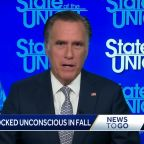 Romney knocked unconscious in fall