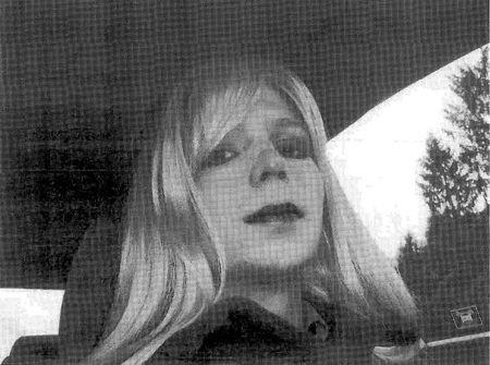 U.S. Army handout photo shows Private First Class Manning convicted of handing state secrets to WikiLeaks dressed as a woman