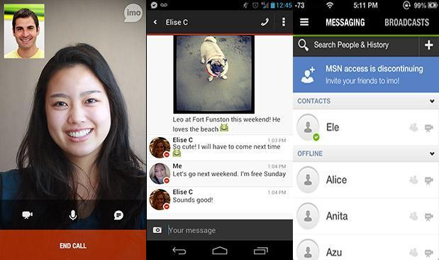 Imo adds video call over WiFi and cellular to Android and iOS apps