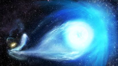 Black hole throws star out of Milky Way galaxy