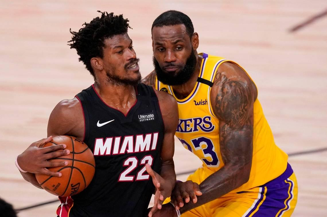 LeBron's dominant fourth quarter leads Lakers past Heat. Miami down to its last chance