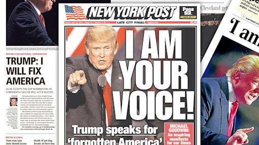 America in crisis, Trump says: Newspapers cover the big RNC finale