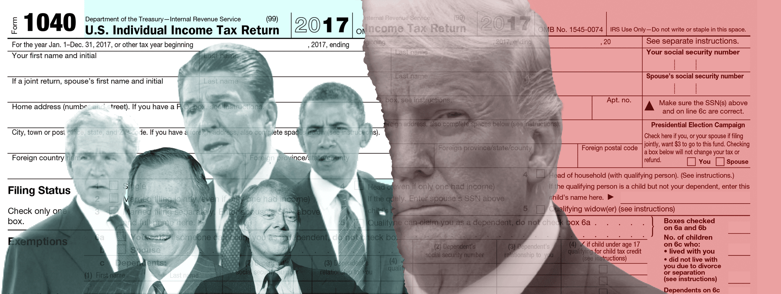 How Trump's taxes during his first year in office compare with other presidents'