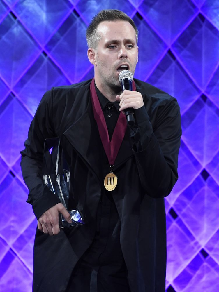 Justin Tranter at the BMI Pop Awards