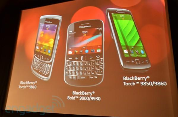RIM launches BlackBerry Torch 9810, Torch 9860 and Bold 9900, we go hands-on!