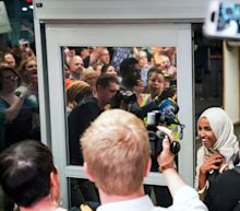 Supporters chant 'Welcome home, Ilhan' as Rep. Ilhan Omar receives thunderous Minnesota welcome