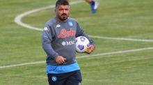 Foot - ITA - Naples - Italie:Gennaro Gattuso (Naples) déjà conquis par Victor Osimhen