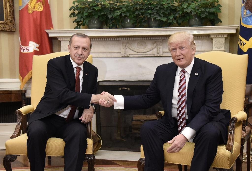 President Donald Trump and his Turkish counterpart Recep Tayyip Erdogan agreed by phone last month to prevent a power vacuum in Syria after US forces withdraw (AFP Photo/Olivier Douliery)