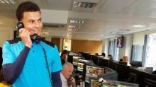 Unfazed by ongoing family drama, Tottenham's Dele Alli plays charity phone operator