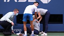 Novak Djokovic out of US Open for accidentally hitting line judge with ball