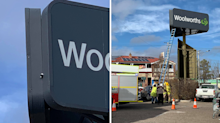 Pie in the sky! Emergency operation after bird stuck in Woolworths sign