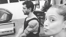 Bipasha Basu enjoys YOGA with husband Karan Singh Grover