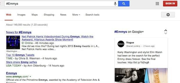 Google Search adds support for hashtags, pulls related info from Google+