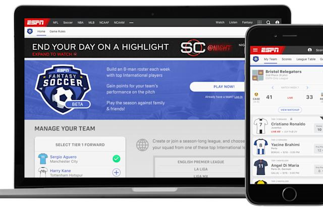 ESPN is testing a global fantasy soccer game
