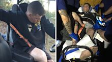 Man narrowly escapes catastrophe after being impaled by tree branch