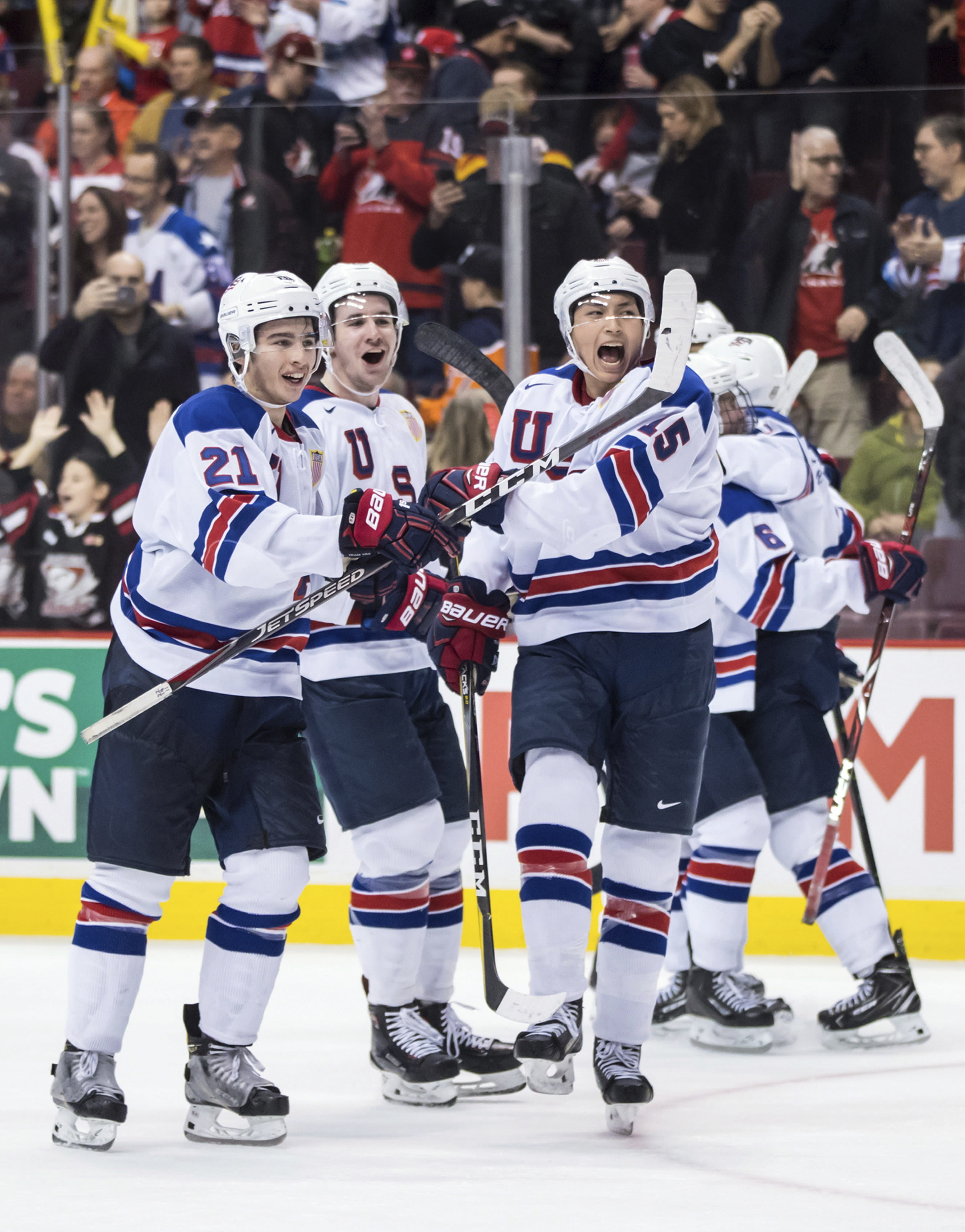 Us Advances To World Junior Hockey Final Beating Russia 2 1