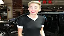 Miley Cyrus Forgets To Wear A Bra