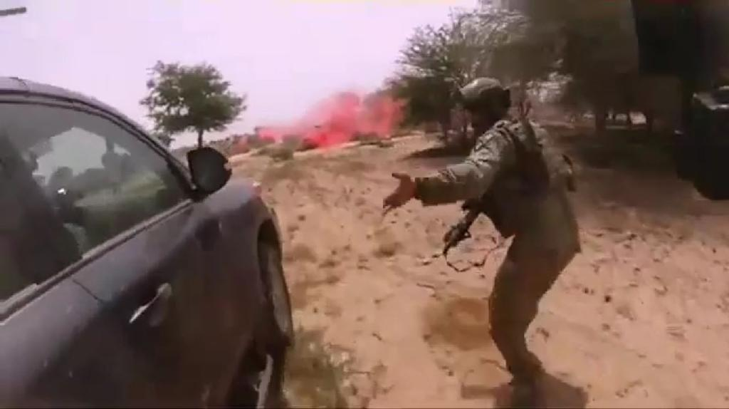 Enemy fire was initially light when jihadists attacked US and Nigerien forces in October 2017, but quickly intensified as militants surged through a wooded area alongside the convoy