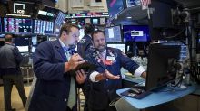 US STOCKS-Wall Street dips as caution sets in ahead of trade talks