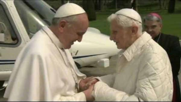 Historic meeting of two popes, Francis and Benedict