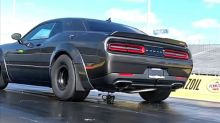 Watch these Dodge Demons explode on a Texas drag strip