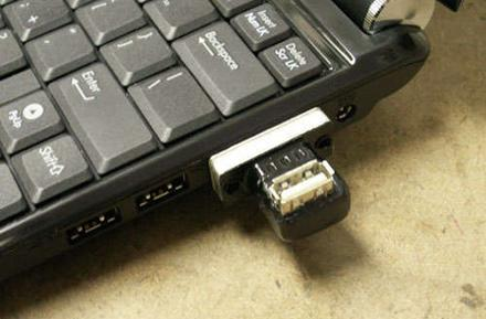 Conceptually simple hack turns VGA port into power-only USB socket