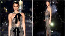Bella Hadid goes braless in completely sheer dress