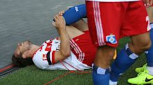 Hamburg's Muller suffers torn ACL celebrating winning goal