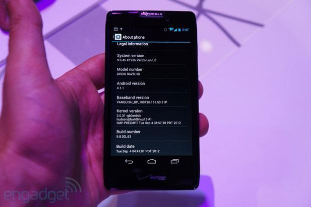 Android 4.1 Jelly Bean rollout for Droid RAZR HD, RAZR Maxx HD to begin next week