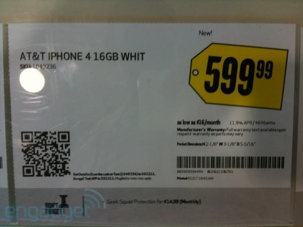 White iPhone 4 starts to get Best Buy, The Source shelf space