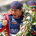Takuma Sato of Japan wins the 101st running of the Indianapolis 500