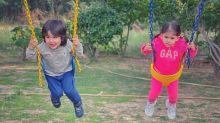 Soha Shares Adorable Picture of Inaaya & Taimur Ali Khan
