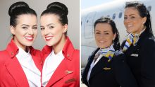 These identical air hostesses love living matching lives