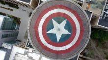 Fans de Marvel transforman la cúpula del Instituto de Tecnología de Massachusets en un escudo del Capitán América