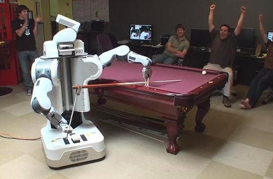 Willow Garage PR2 robot plays pool, gives Fast Eddie a run for his money (video)