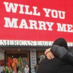 Men Propose on Valentine's Day Using Times Square Billboards