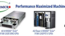 Supermicro Shows Industry's First Scale-Up AI and Machine Learning Systems based on the Latest Generation CPUs and NVIDIA Tesla V100 with NVLink GPUs for Superior Performance and Density