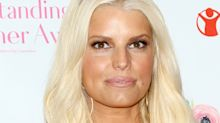 Jessica Simpson Wore Red Hair With Bangs for Her Birthday